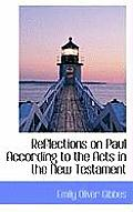 Reflections on Paul According to the Acts in the New Testament