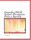 Correspondenz-Blatt Des Zoologisch-Mineralogischen Vereines in Regensburg