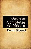 Oeuvres Completes de Diderot
