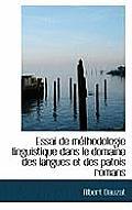 Essai de Methodologie Linguistique Dans Le Domaine Des Langues Et Des Patois Romans