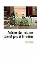 Archives Des Missions Scientifiques Et Litt Raires
