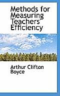 Methods for Measuring Teachers' Efficiency