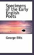 Specimens of the Early English Poets