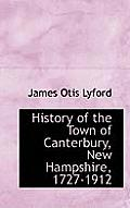 History of the Town of Canterbury, New Hampshire, 1727-1912