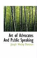 Art of Advocates and Public Speaking