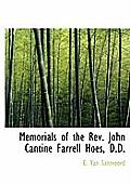 Memorials of the REV. John Cantine Farrell Hoes, D.D.
