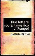 Due Lettere Sopra Il Musaico Di Pompei