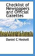 Checklist of Newspapers and Official Gazettes