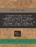 Verborum Praeterita & Supina Grammaticae Primae Partis a Roberto Vvhitintono L. Nuperrime Recensitae, Liber Quintus: de Verborum Praeteritis & Supinis