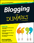 Blogging For Dummies 5th Edition