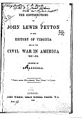 The Contributions of John Lewis Peyton to the History of Virginia
