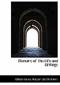 Memoirs of the Life and Writings