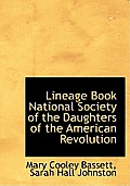 Lineage Book National Society of the Daughters of the American Revolution