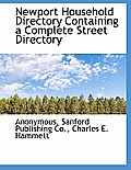 Newport Household Directory Containing a Complete Street Directory