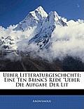 Ueber Litteraturgeschichte: Eine Ten Brink's Rede
