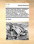 Owen's New Book of Fairs,: Published by the King's Authority. Being an Authentic Account of All the Fairs in England and Wales, ... a New Edition