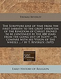 The Scripture-Line of Time from the First Sabbath to the Great Sabbatism of the Kingdom of Christ Proved to Be Continued by the 480 Years from the Goi