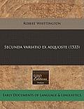 Secunda Variatio Ex Aequoste (1533)