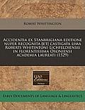 Accidentia Ex Stanbrigiana Editione Nuper Recognita [Et] Castigata Lima Roberti Whitintoni Lichfeldiensis in Florentissima Oxoniensi Academia Laureati