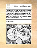 Terr?-Filius: Or, the Secret History of the University of Oxford: In Several Essays to Which Are Added, Remarks Upon a Late Book, En