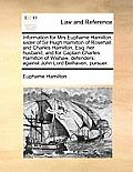 Information for Mrs Euphame Hamilton, Sister of Sir Hugh Hamilton of Rosehall: And Charles Hamilton, Esq: Her Husband, and for Captain Charles Hamilto