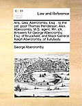 Ans. Geo. Abercromby, Esq: . to the Pet. Poor Thomas Henderson. Alex. Abercromby, W.S. Agent. Mn. Clk. Answers for George Abercromby, Esq: Of Bru