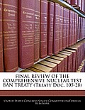 Final Review of the Comprehensive Nuclear Test Ban Treaty (Treaty Doc. 105-28)