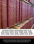 Legislative Hearing on H.R. 674, H.R. 1273, H.R. 1900, H.R. 1901, H.R. 2346, H.R. 2696, and H.R. 2697