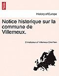 Notice Historique Sur La Commune de Villemeux.