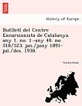 Butlleti del Centre Excursionista de Catalunya. Any 1. No. 1.-Any 48. No. 518/523. Jan./Juny 1891-Jul./Des. 1938.