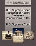 U.S. Supreme Court Transcript of Record Basham V. Pennsylvania R. Co.