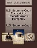 U.S. Supreme Court Transcript of Record Baker V. Humphrey