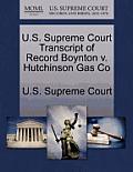 U.S. Supreme Court Transcript of Record Boynton V. Hutchinson Gas Co