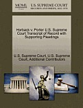 Horback V. Porter U.S. Supreme Court Transcript of Record with Supporting Pleadings