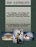 U S V. Holliday: U S V Haas U.S. Supreme Court Transcript of Record with Supporting Pleadings