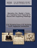 The Marcellus: Baxter V. Camp U.S. Supreme Court Transcript of Record with Supporting Pleadings