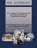 U S V. Billing U.S. Supreme Court Transcript of Record with Supporting Pleadings
