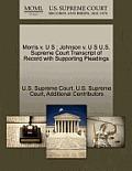 Morris V. U S: Johnson V. U S U.S. Supreme Court Transcript of Record with Supporting Pleadings