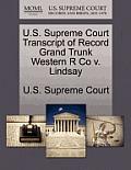 U.S. Supreme Court Transcript of Record Grand Trunk Western R Co V. Lindsay