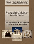 Osterman V. Baldwin U.S. Supreme Court Transcript of Record with Supporting Pleadings