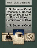 U.S. Supreme Court Transcript of Record West Ohio Gas Co V. Public Utilities Commission of Ohio