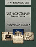 Mitchell V. Burlington U.S. Supreme Court Transcript of Record with Supporting Pleadings