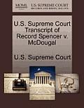 U.S. Supreme Court Transcript of Record Spencer V. McDougal