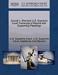 Croxall V. Sherrerd U.S. Supreme Court Transcript of Record with Supporting Pleadings