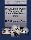 U.S. Supreme Court Transcript of Record Handley V. Stutz