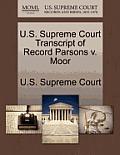 U.S. Supreme Court Transcript of Record Parsons V. Moor