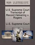 U.S. Supreme Court Transcript of Record Helvering V. Rogers