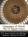 Campaigns of World War II: Egypt-Libya