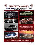 Those 80s Cars - AMC & Chrysler (Black & White)