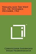 Vedanta and the West No. 158, November-December, 1962